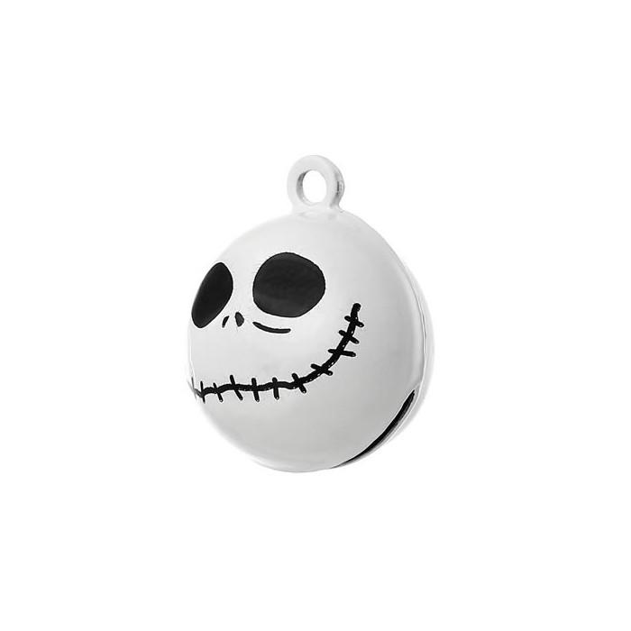 Halloween Skull Bells 22x18mm, 5 pcs