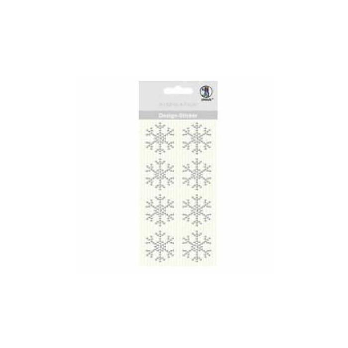 Ursus - Design Stickers Snowflake 3cm, 8 pcs