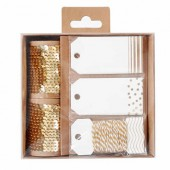 Paillettes & Tags, set gold