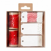Paillettes & Tags, set red