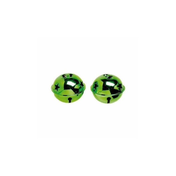 Bells 30mm, green, 10 pcs