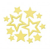 Metallic Stars, gold,  1.4-4cm, 40 pcs