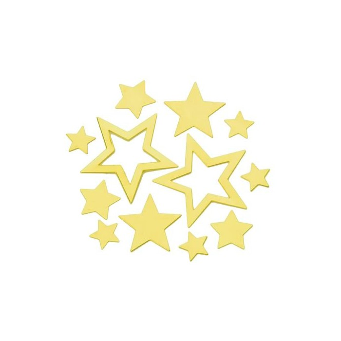 Metallic Stars, gold,  1.4-4cm, 40 pcs