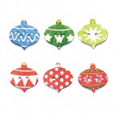 Buttons Mix, Christmas Ornaments, 8 pcs