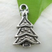 Pendentif Sapin de Noël, 23x14mm, 5 pcs