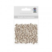 Ursus - Half pearls, Ø5mm, 100 pcs, topaz