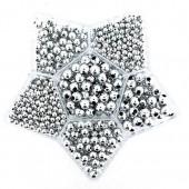 Perles métalliques argent, boîte assortiment