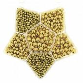 Perles métalliques or, boîte assortiment