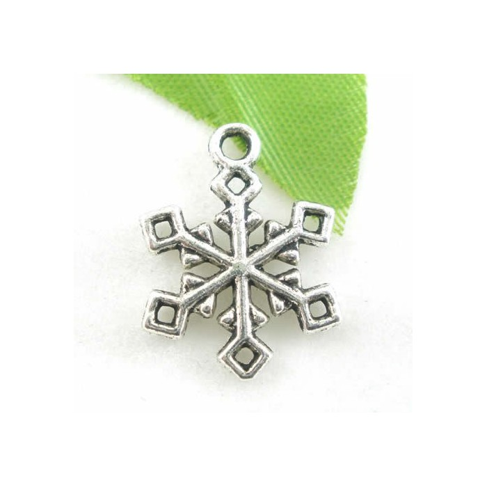 Hanging Snowflake 19x16mm, 5 pcs