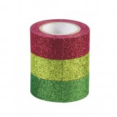 Glitter Tape, set of 3, red/green