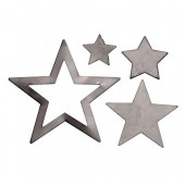 Metallic Stars, black,  1.4-4cm, 40 pcs