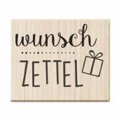 Rubberstamp - Wunsch Zettel 3.7x3cm