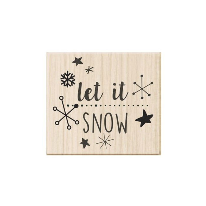 Rubberstamp - Let is snow 3.7x3cm