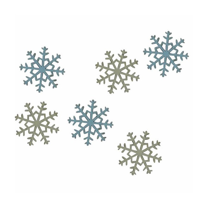 Wooden elements : snowflakes
