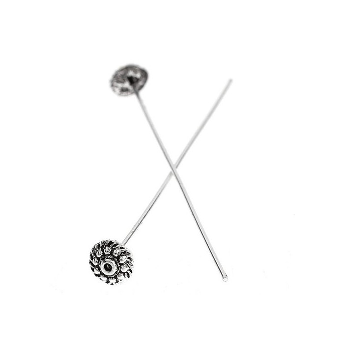 Decorative head pins,  52/0.7mm, 10 pcs