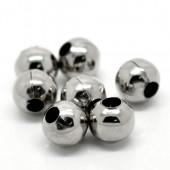 Perles en métal rondes 10mm grand trou, 10 pcs