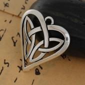 Hanging celtic heart, 31x29mm, 1 pce
