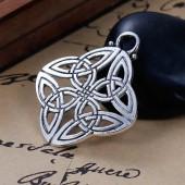 Hanging celtic knot diamond,  40x34mm, 2 pcs