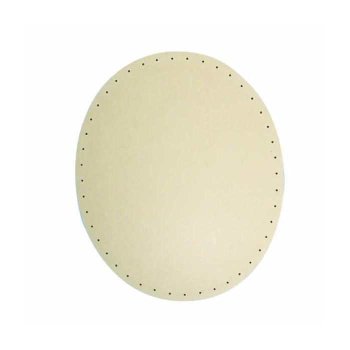 Wood bottom for wicker basket, oval, 20x30cm