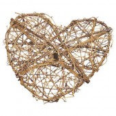 Coeur en sarments de vigne 30cm