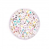 Perles alphabet, mix multicolore, +/- 300 pcs